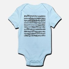 Music notes Infant Bodysuit