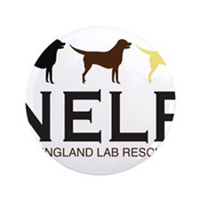 "New England Lab Rescue 3.5"" Button"