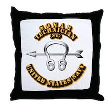 Navy - Rate - ST Throw Pillow