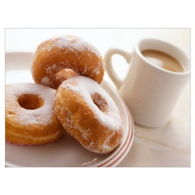 Coffee and doughnuts Poster