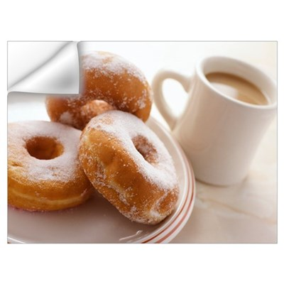 Coffee and doughnuts Wall Decal