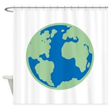 Vintage Planet Earth Shower Curtain