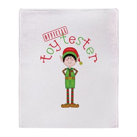 Official Toy Tester Throw Blanket