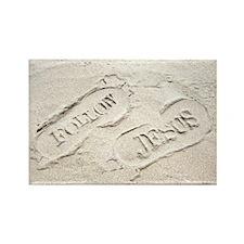 Sandy Footprints Rectangle Magnet