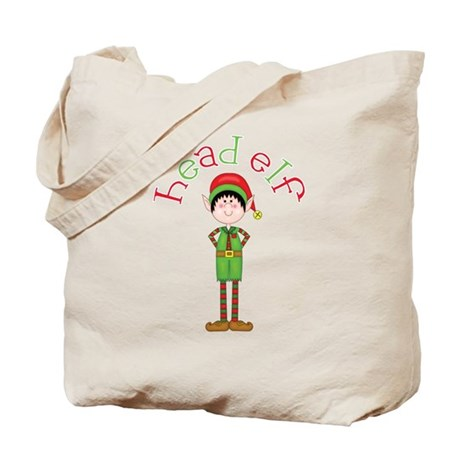 Head Christmas Elf Tote Bag