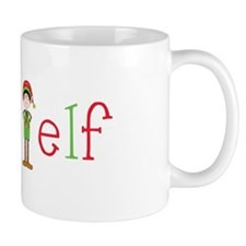 Head Christmas Elf Mug