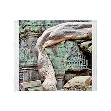 Ta Prohm Huge Tree Root Throw Blanket