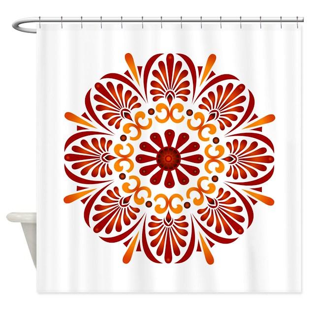 Red Mandala Shower Curtain By CrimsonMandala