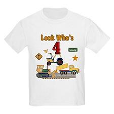 Construction 4th Birthday Kids T-Shirt