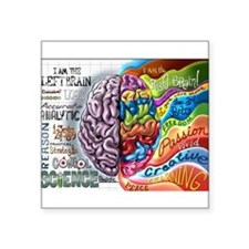 "Left Brain, Right Brain Square Sticker 3"" x 3"""