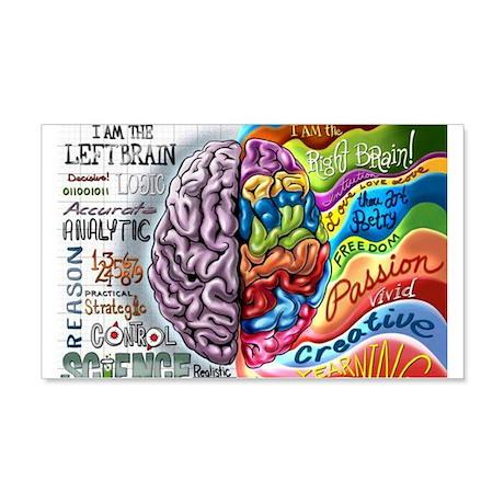 Left Brain, Right Brain 20x12 Wall Decal