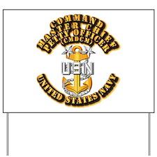 Navy - Rank - CMDCM Yard Sign