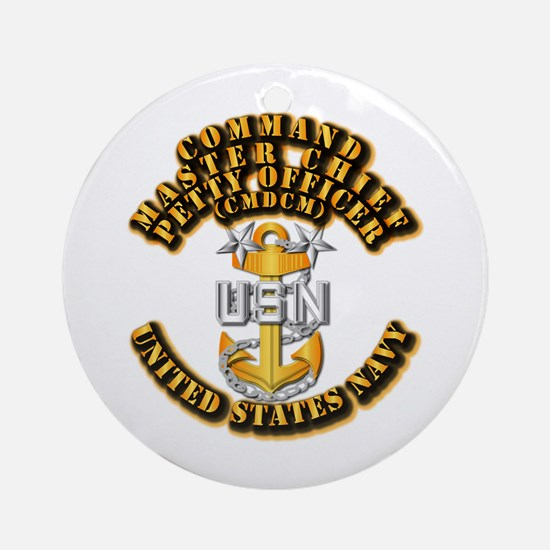 Navy - Rank - CMDCM Ornament (Round)