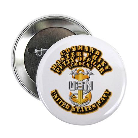 """Navy - Rank - CMDCM 2.25"""" Button (10 pack)"""