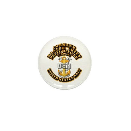 Navy - Rank - CMDCM Mini Button