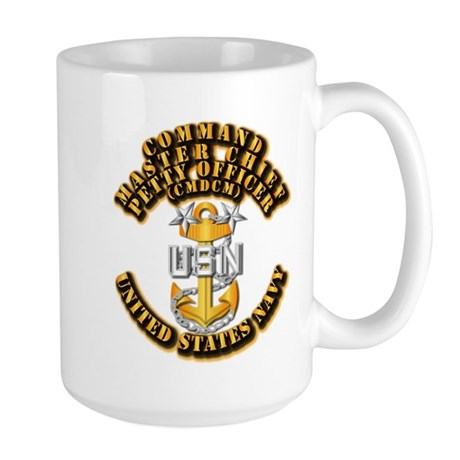 Navy - Rank - CMDCM Large Mug