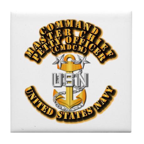 Navy - Rank - CMDCM Tile Coaster