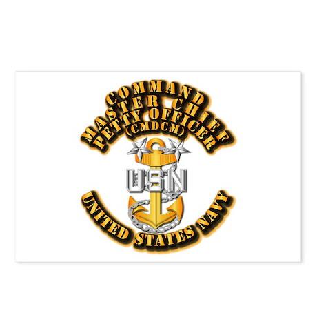 Navy - Rank - CMDCM Postcards (Package of 8)