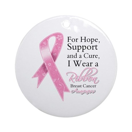 For Hope Cure Breast Cancer Ornament (Round)