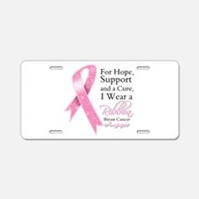 For Hope Cure Breast Cancer Aluminum License Plate