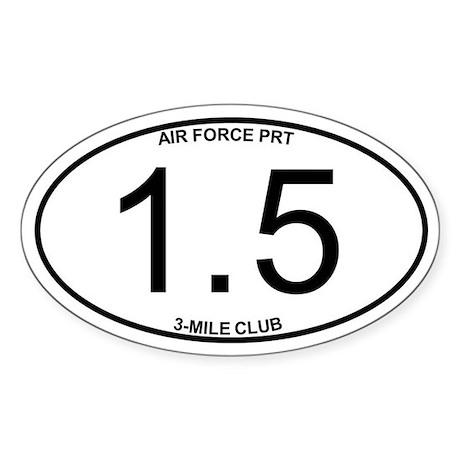 Air Force PRT 1.5 Sticker (Oval)
