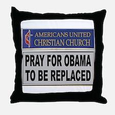 OBAMA PRAYER Throw Pillow