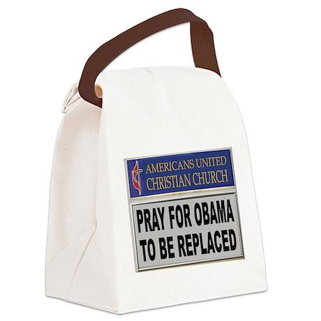 OBAMA PRAYER Canvas Lunch Bag