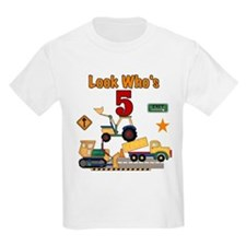 Construction 5th Birthday Kids T-Shirt