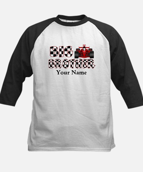Big Brother Race Car Kids Baseball Jersey