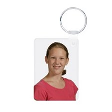 Isabelle Aluminum Photo Keychain