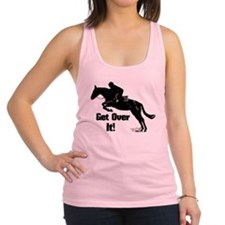 Get Over It! Horse Jumper Racerback Tank Top
