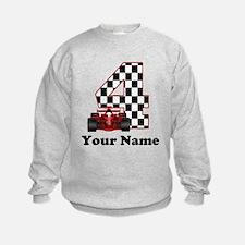 4th Birthday Race Car Sweatshirt