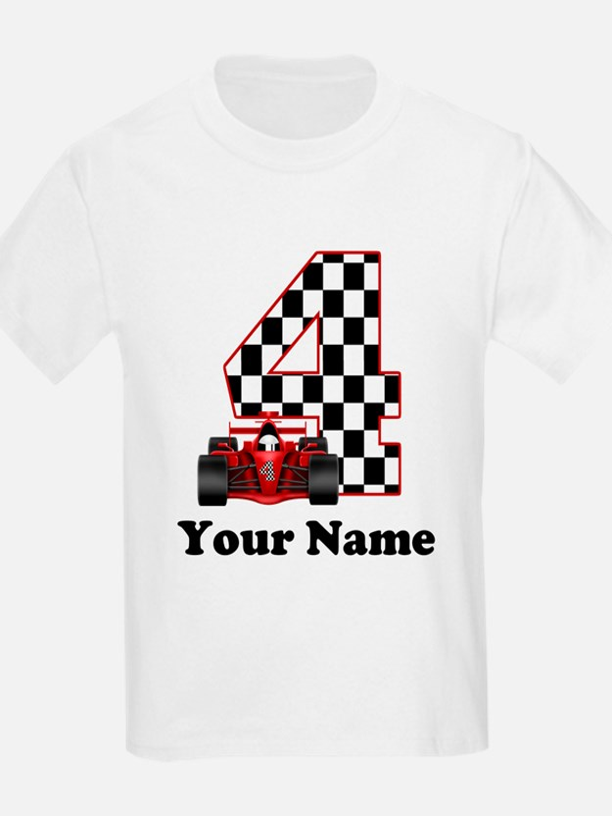 4th Birthday Race Car T-Shirt