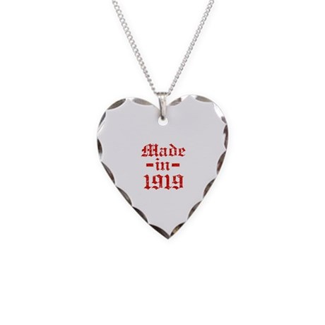 Made In 1919 Necklace Heart Charm