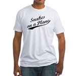 Snakes on a Plane Vintage Fitted T-Shirt