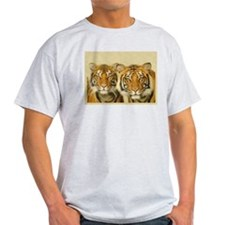 Two Tigers Staring T-Shirt