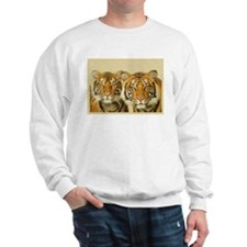 Two Tigers Staring Sweatshirt