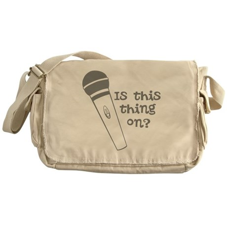 is this thing on Messenger Bag