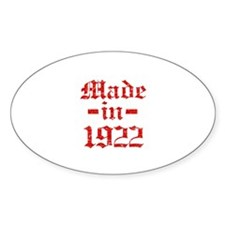 Made In 1922 Decal