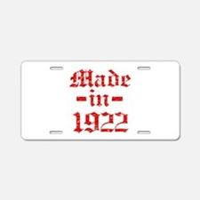 Made In 1922 Aluminum License Plate