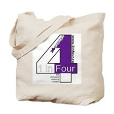 1 in Four Tote Bag