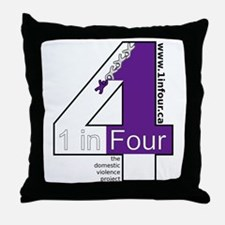 1 in Four Throw Pillow