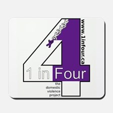 1 in Four Mousepad