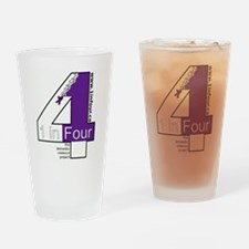 1 in Four Drinking Glass