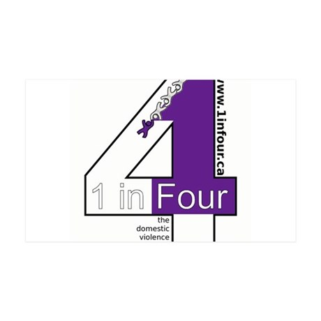 1 in Four 35x21 Wall Decal