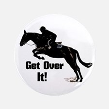 """Get Over It! Horse Jumper 3.5"""" Button (100 pack)"""