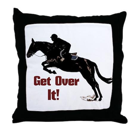 Get Over It! Horse Jumper Throw Pillow
