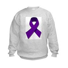 Purple Ribbon Sweatshirt