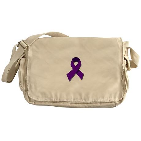Purple Ribbon Messenger Bag