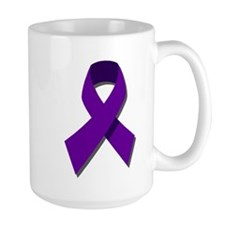 Purple Ribbon Mug